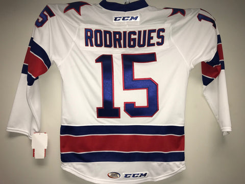 Evan Rodrigues Rochester Americans Customized White Jersey