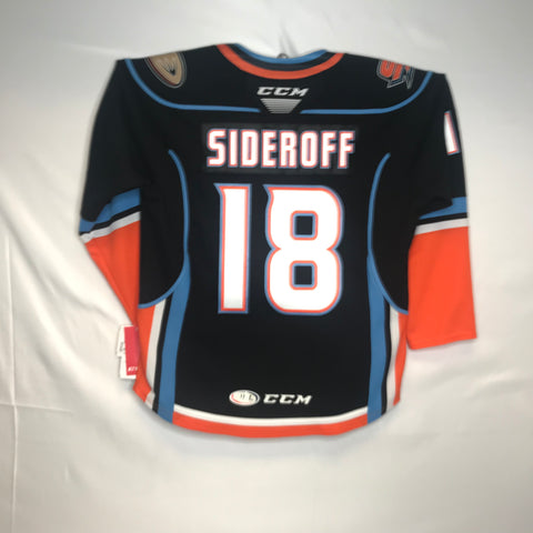CCM Deven Sideroff San Diego Gulls Customized Premier Black Jersey