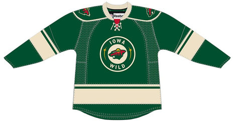 Reebok Iowa Wild Customized Premier Green Jersey