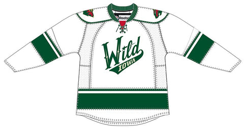 Reebok Iowa Wild Customized Premier White Jersey (Clearance)