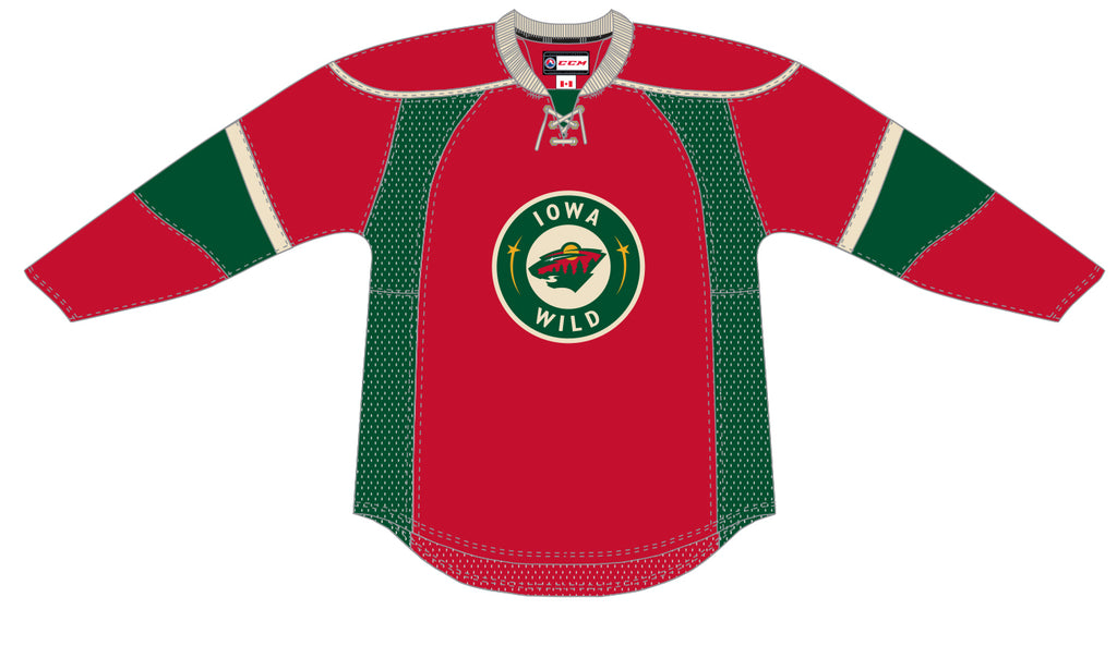 CCM Edge Iowa Wild Premier Red Third Jersey