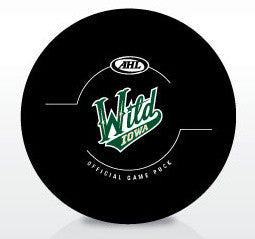 Iowa Wild New Look Official Game Puck