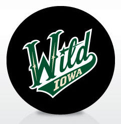 Iowa Wild Team Logo Souvenir Puck