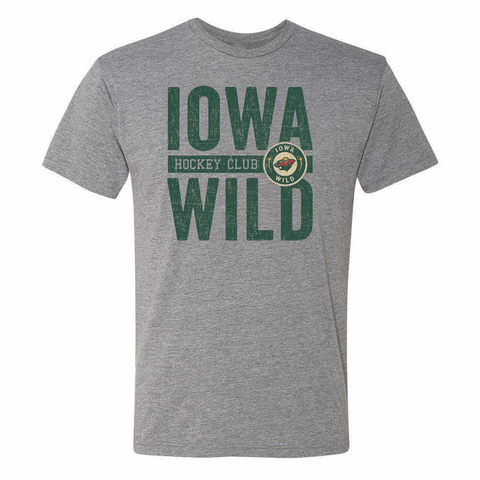 108 Stitches Iowa Wild Hockey Club Adult Short Sleeve T-Shirt