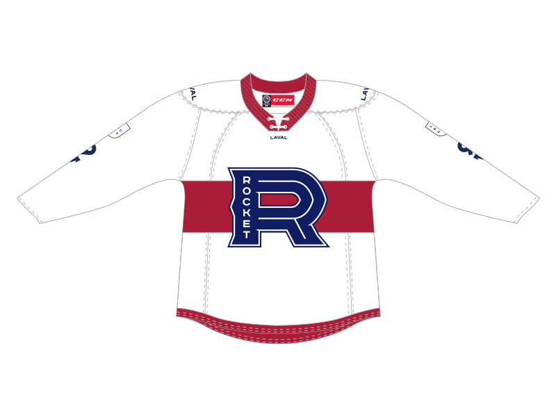CCM Quicklite Laval Rocket Customized Premier White Jersey