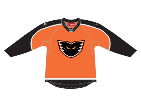 CCM Quicklite Lehigh Valley Phantoms Customized Premier Orange Jersey
