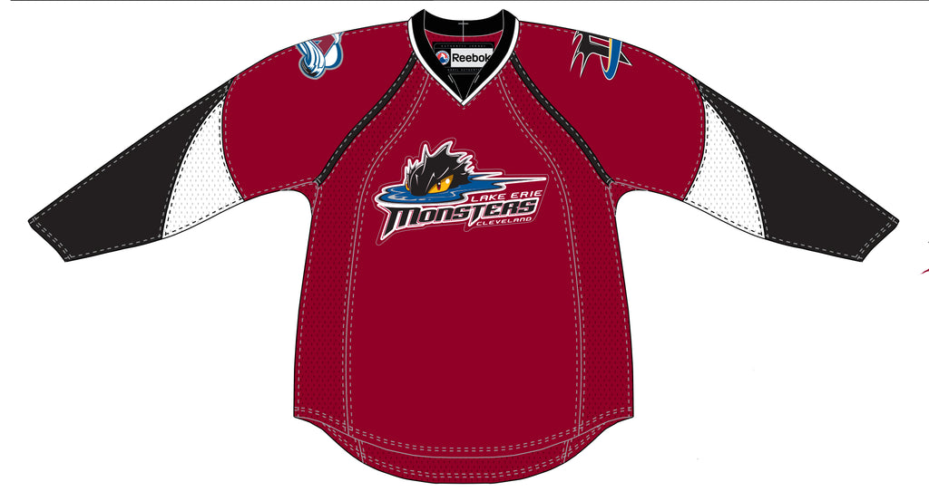 Reebok Lake Erie Monsters Authentic Pro Away Jersey