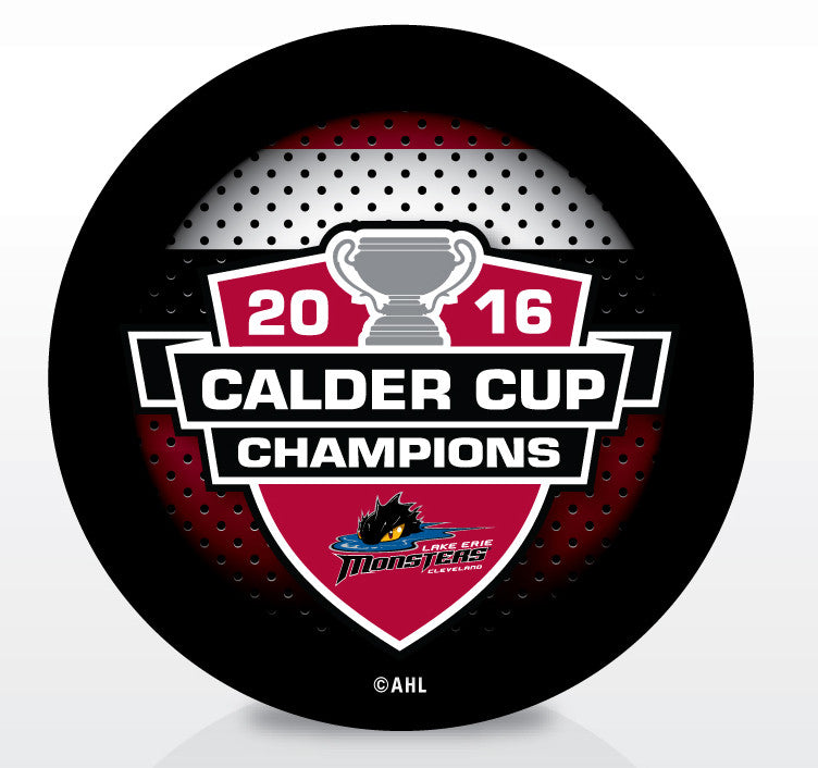 Lake Erie Monsters 2016 Calder Cup Champions Souvenir Puck
