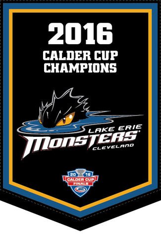 Lake Erie Monsters 2016 Calder Cup Champions Team Banner