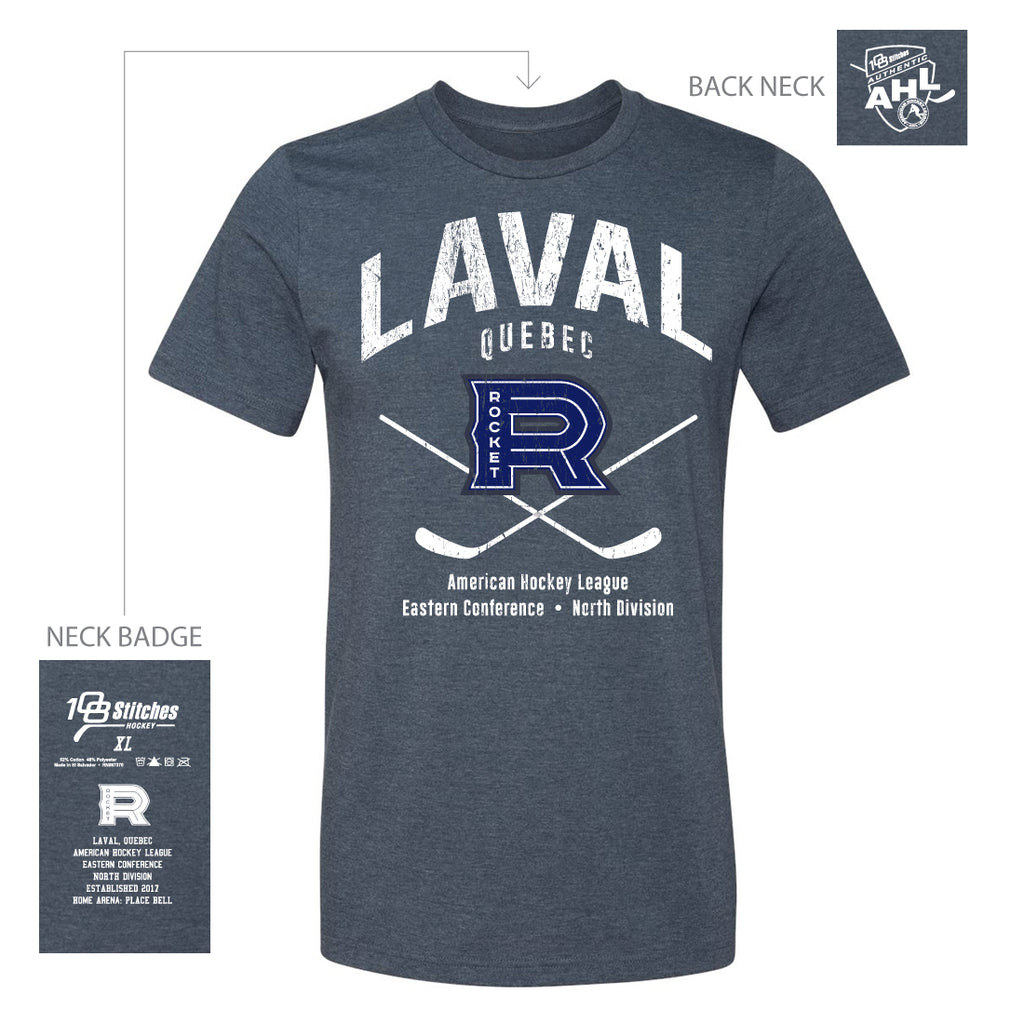 108 Stitches Laval Rocket Adult Classic Cross Sticks T-Shirt