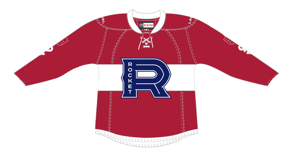 CCM Laval Rocket Customized Premier Red Jersey