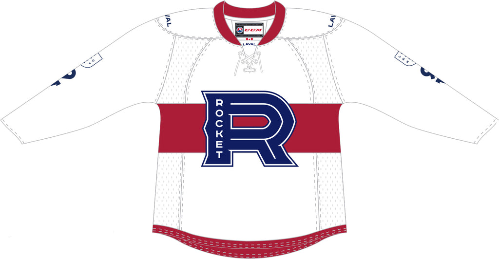 CCM Edge Laval Rocket Customized Premier White Jersey