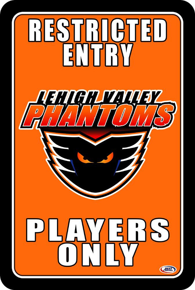 "Lehigh Valley Phantoms ""Players Only"" Sign"
