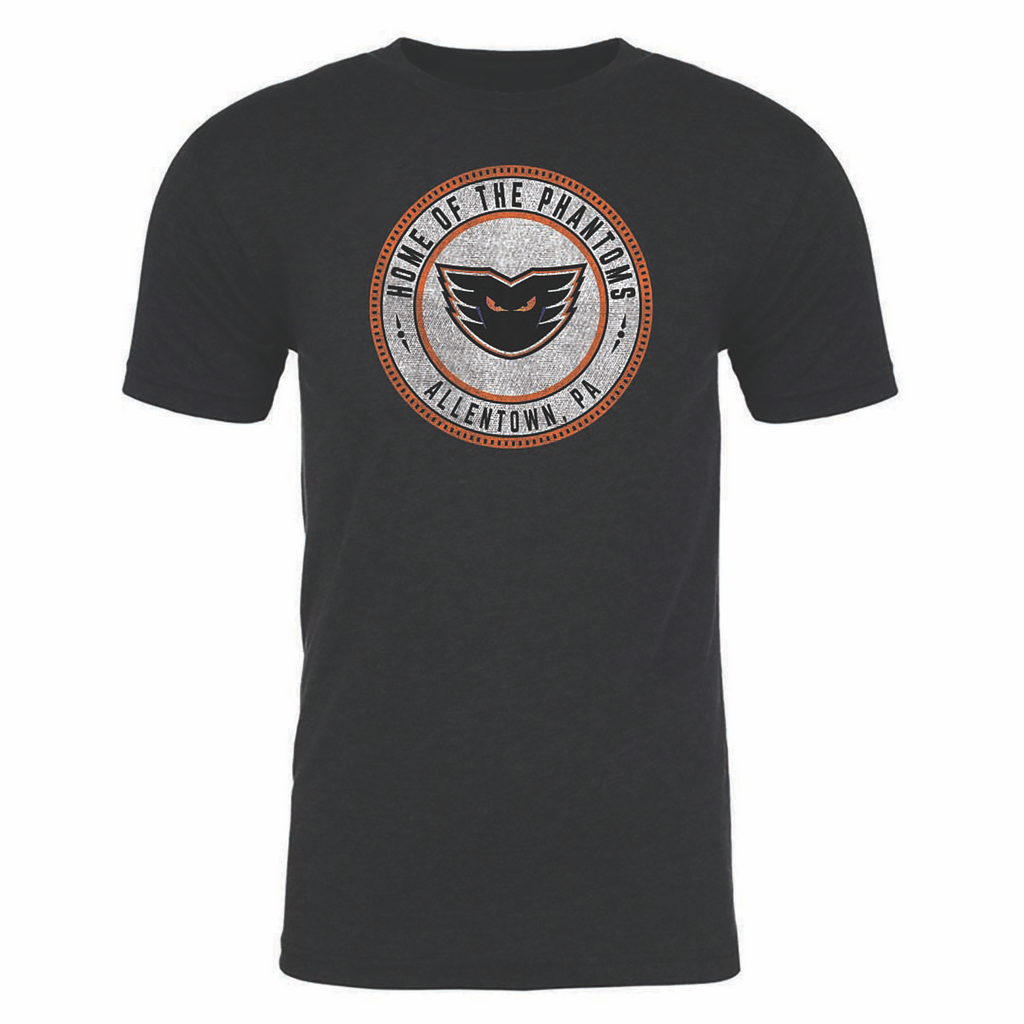 108 Stitches Lehigh Valley Phantoms Puck Decal Short Sleeve T-Shirt