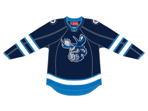 CCM Quicklite Manitoba Moose Customized Premier Blue Jersey