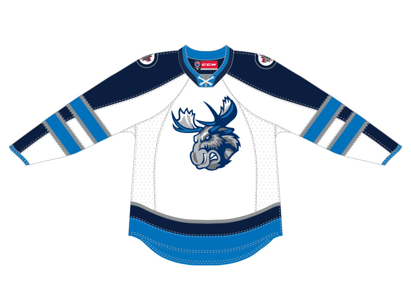 CCM Quicklite Manitoba Moose Customized Premier White Jersey