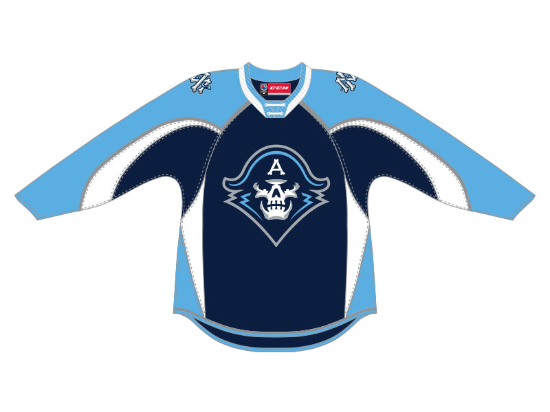 CCM Quicklite Milwaukee Admirals Customized Premier Navy Jersey