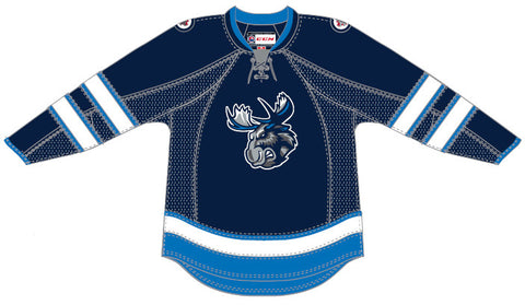 CCM Manitoba Moose Customized Premier Blue Jersey
