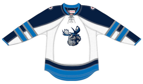 CCM Edge Manitoba Moose Customized Premier White Jersey