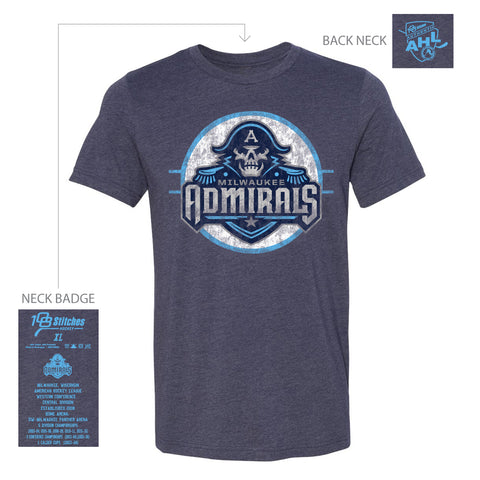 108 Stitches Milwaukee Admirals Adult Circle T-Shirt