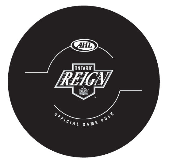 Ontario Reign Official Game Puck