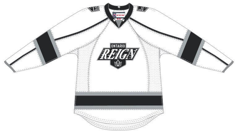CCM Edge Ontario Reign Customized Premier White Jersey
