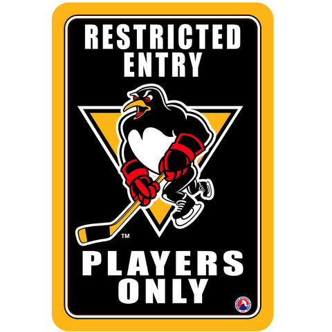 "Wilkes-Barre/Scranton Penguins ""Players Only"" Sign"