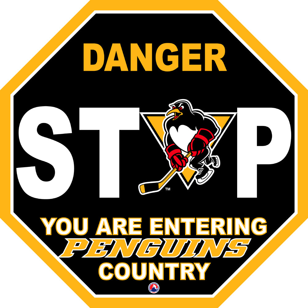 Wilkes-Barre/Scranton Penguins Fan Stop Sign