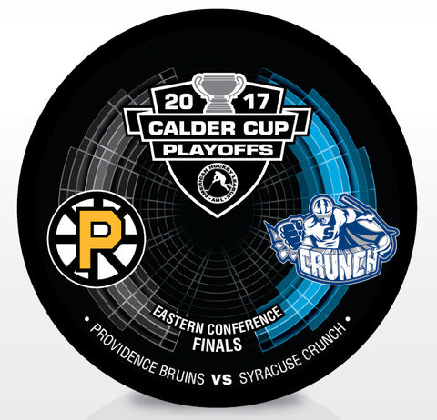 Providence Bruins vs. Syracuse Crunch 2017 Calder Cup Playoffs Dueling Souvenir Puck