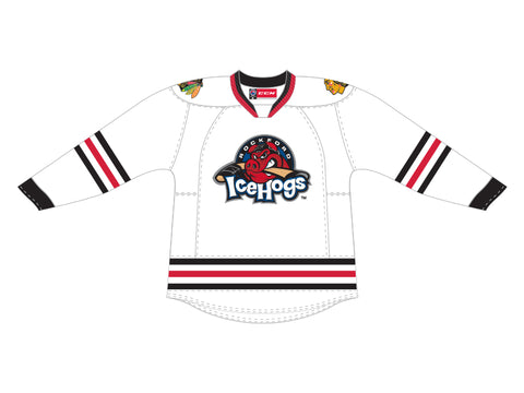 CCM Quicklite Rockford IceHogs Customized Premier White Jersey