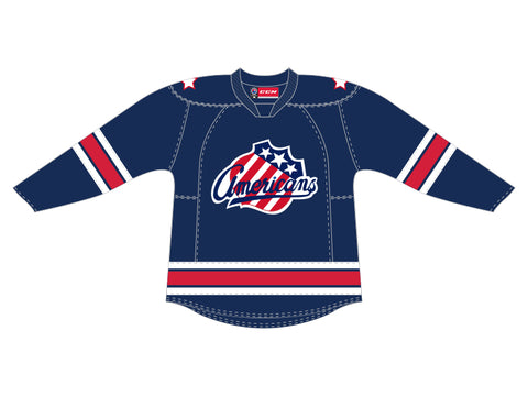 CCM Quicklite Rochester Americans Customized Premier Blue Jersey
