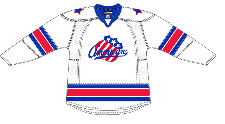 CCM Edge Rochester Americans Customized Premier White Jersey