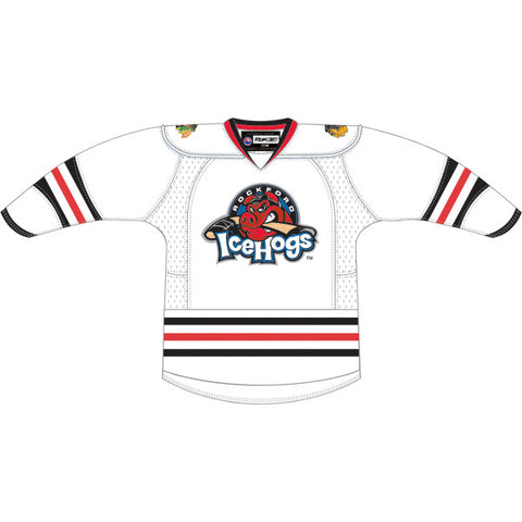 CCM Edge Rockford IceHogs Customized Premier White Jersey