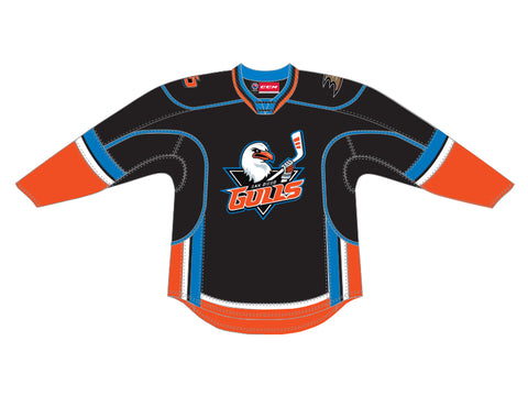 CCM Quicklite San Diego Gulls Customized Premier Black Jersey