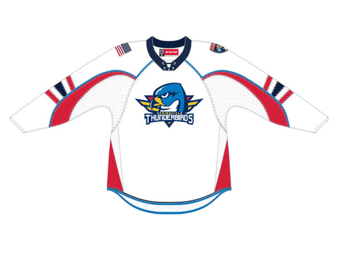 CCM Quicklite Springfield Thunderbirds Customized Premier White Jersey
