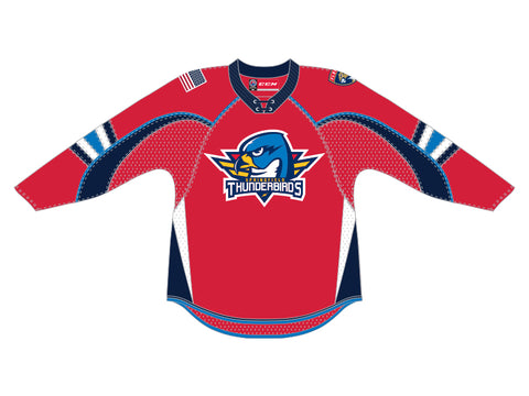 CCM Quicklite Springfield Thunderbirds Customized Premier Red Jersey