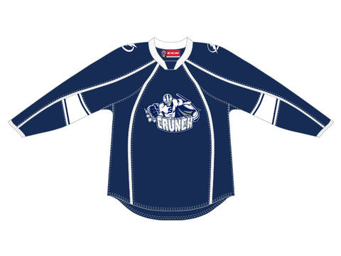 CCM Quicklite Syracuse Crunch Customized Premier Blue Jersey
