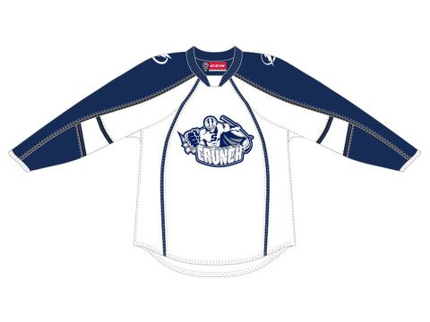 CCM Quicklite Syracuse Crunch Customized Premier White Jersey