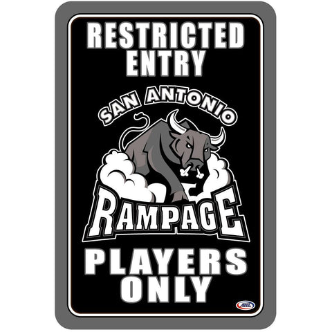 "San Antonio Rampage ""Players Only"" Sign"