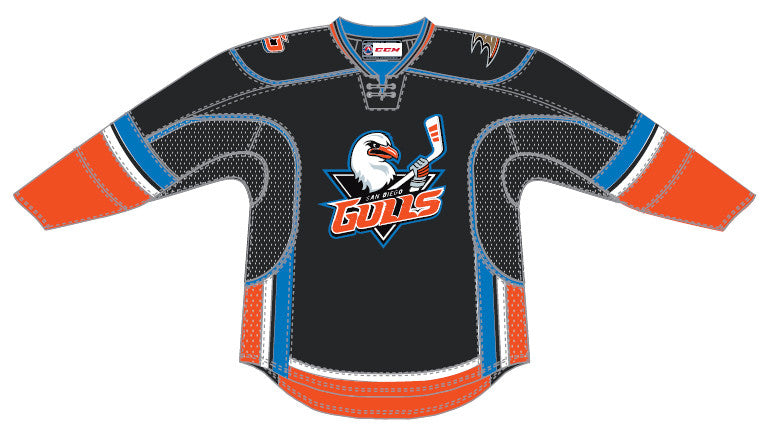 787a21c74 CCM Edge San Diego Gulls Customized Premier Black Jersey – ahlstore.com