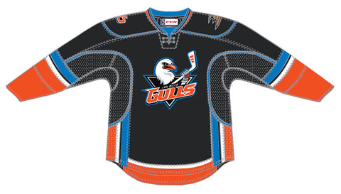 CCM Edge San Diego Gulls Customized Premier Black Jersey
