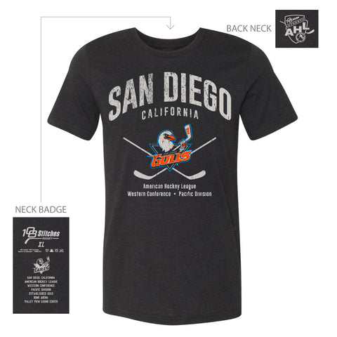 108 Stitches San Diego Gulls Adult Cross Sticks Classic T-Shirt