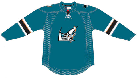 CCM San Jose Barracuda Customized Premier Teal Jersey