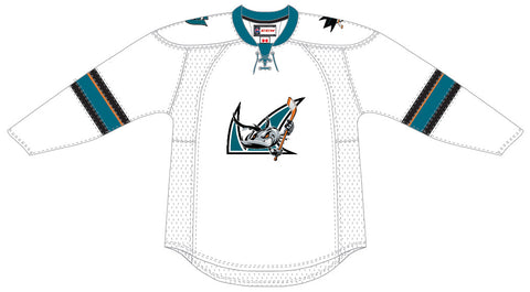CCM San Jose Barracuda Customized Premier White  Jersey
