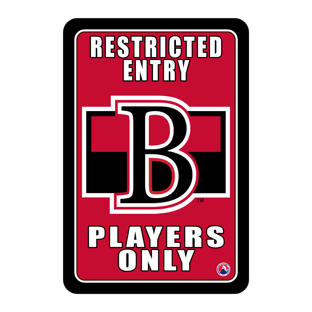 "Belleville Senators ""Players Only"" Sign"