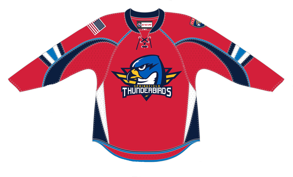 CCM Springfield Thunderbirds Adult Away Premier Jersey (Red)