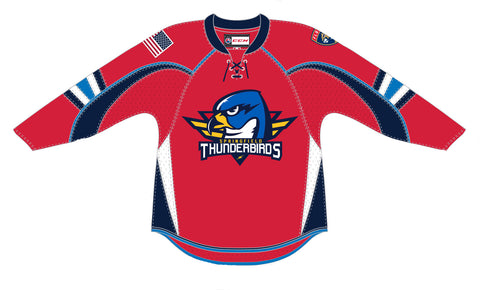 CCM Edge Springfield Thunderbirds Customized Premier Red Jersey