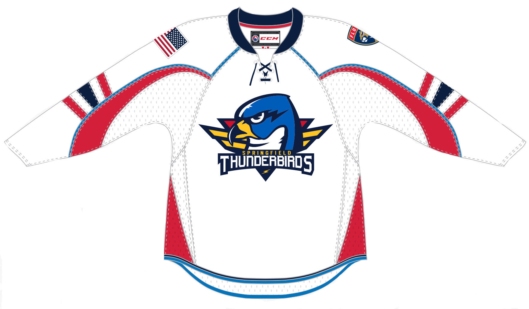CCM Springfield Thunderbirds Customized Premier White Jersey – ahlstore.com 23fc1d5ddfa