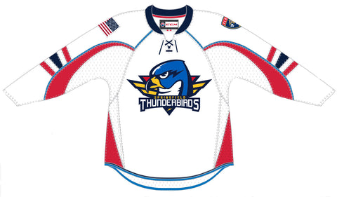 CCM Springfield Thunderbirds Adult Home Premier Jersey (White)