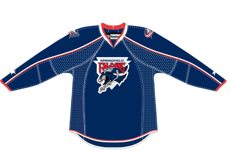 a76a2b57b Reebok Springfield Falcons Premier Away Jersey (with Columbus shoulder  patch)
